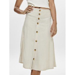 ONLY Palma Line Mix Button Skirt, NWT Size Small